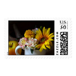 Flower Cup Still Life Postage Stamps