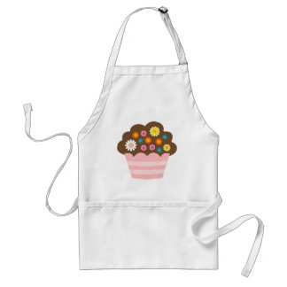 flower cupcake 4 adult apron