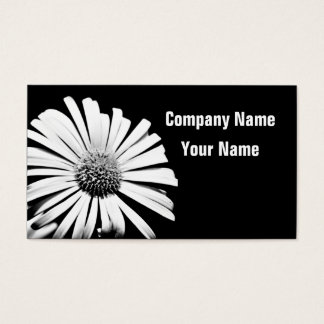 Flower custom business cards (B&W)