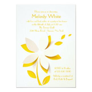 Flower Cutout Invitation