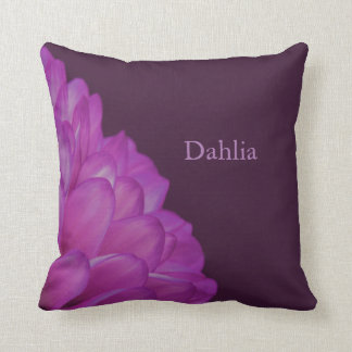 Flower Dahlia Throw Pillow