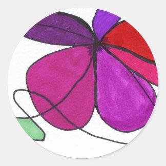 """Flower Dance"" Abstract Design Sticker"