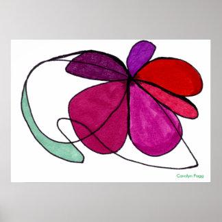 """Flower Dance"" Design by Carolyn Fagg Poster"