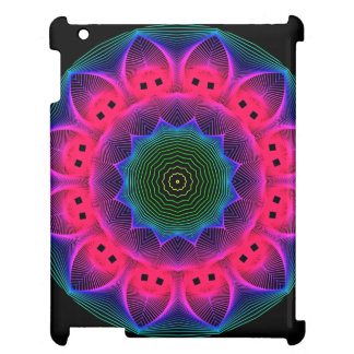 Flower Dance Mandala, Abstract Pink Magenta iPad Covers