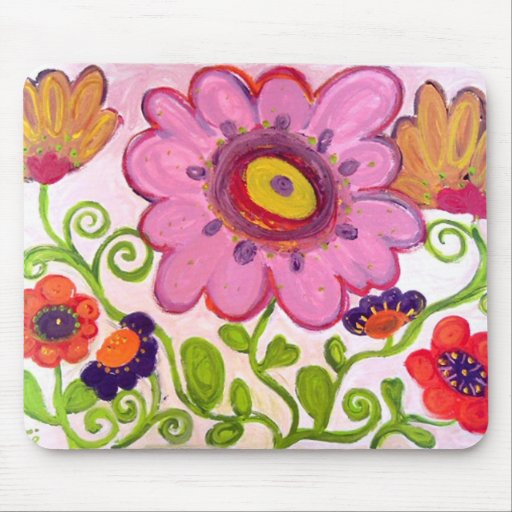 flower dance mouse pad
