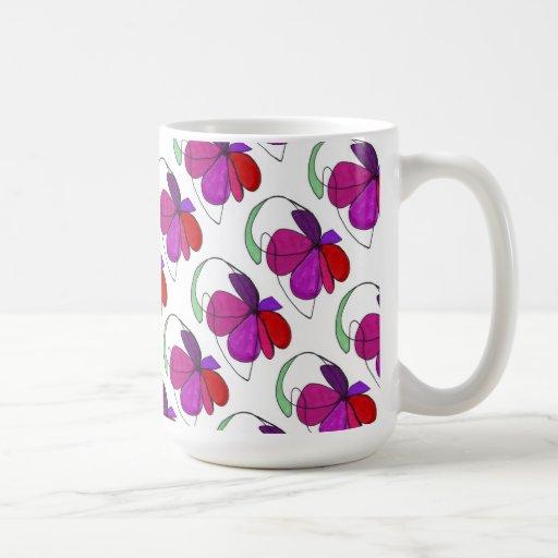 """""""Flower Dance Tiled"""" Abstract Design Mug"""