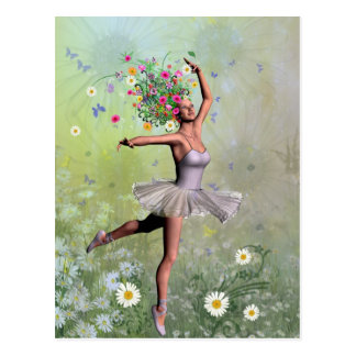 Flower dancer postcard