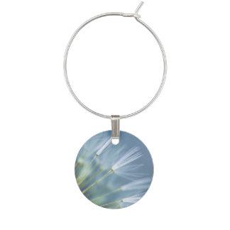 Flower Dandelion Seed Head Wine Glass Charm