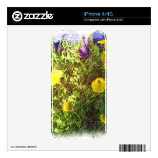 Flower dandelion decal for iPhone 4S