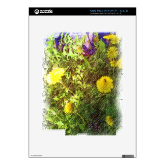 Flower dandelion skin for iPad 3