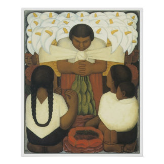Flower Day, Diego Rivera Poster
