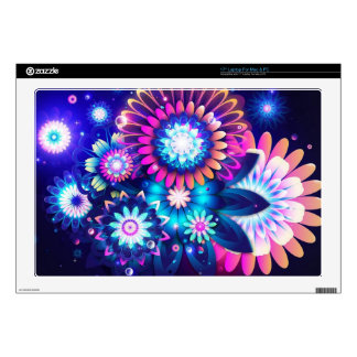 "flower decals for 17"" laptops"