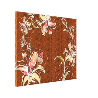 Flower Decor 10 Wrapped Canvas