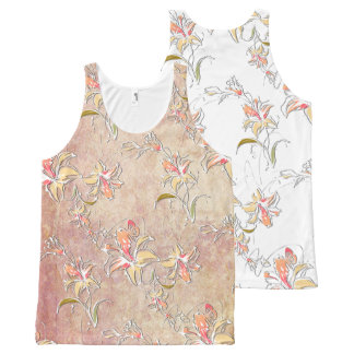 Flower Decor 10A Options All-Over-Print Tank Top