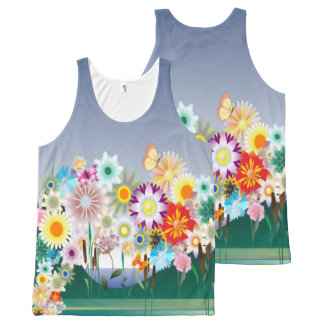 Flower Decor 14 All-Over-Print Tank Top