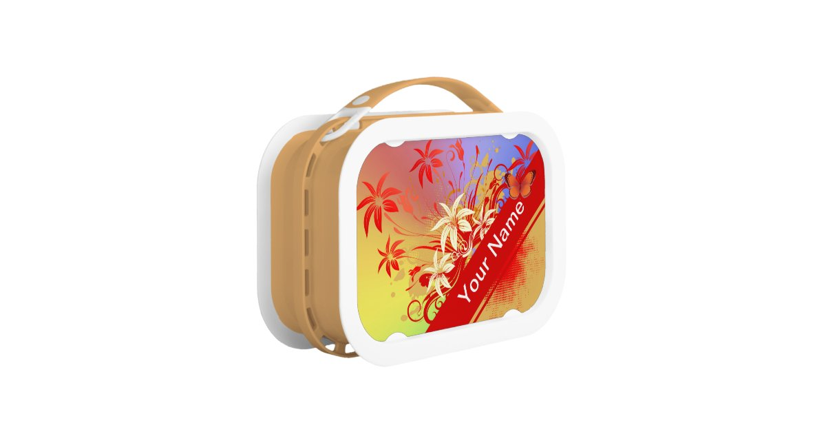 Flower decor 69 lunch box options zazzle for Decor 6 piece lunchbox