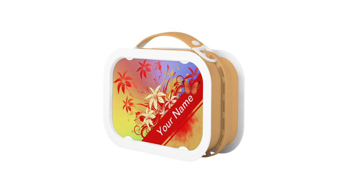 Flower decor 69 lunch box options zazzle for Decor 6 piece lunchbox
