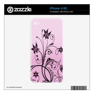 Flower Decor Decal For The iPhone 4