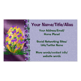 Flower Decorated Egg Business Card Template