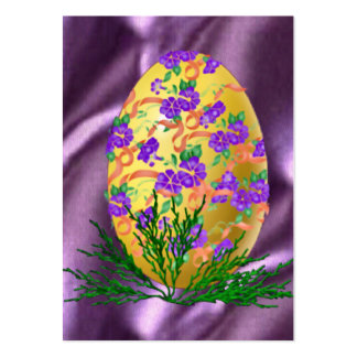 Flower Decorated Egg Business Cards
