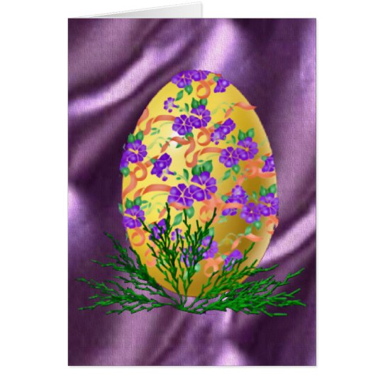 Flower Decorated Egg Card