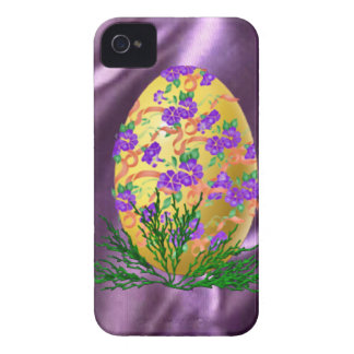 Flower Decorated Egg iPhone 4 Cover