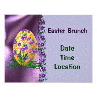 Flower Decorated Egg Flyer