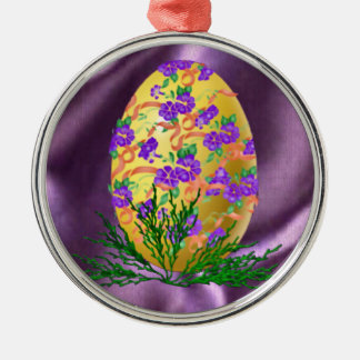 Flower Decorated Egg Ornaments