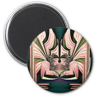 Flower Deity 2 Inch Round Magnet