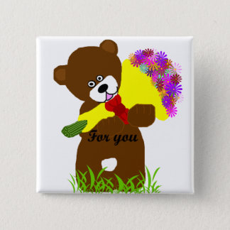 Flower delivery bear button