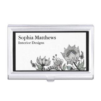 Flower Design 563 Business Card Holder