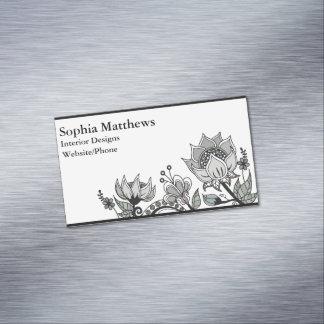 Flower Design 563 Business Card Magnet