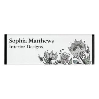 Flower Design 563 Name Tag