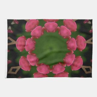 Flower Design by Carole Tomlinson Hand Towels