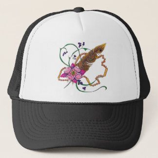 flower design by poppa doc trucker hat