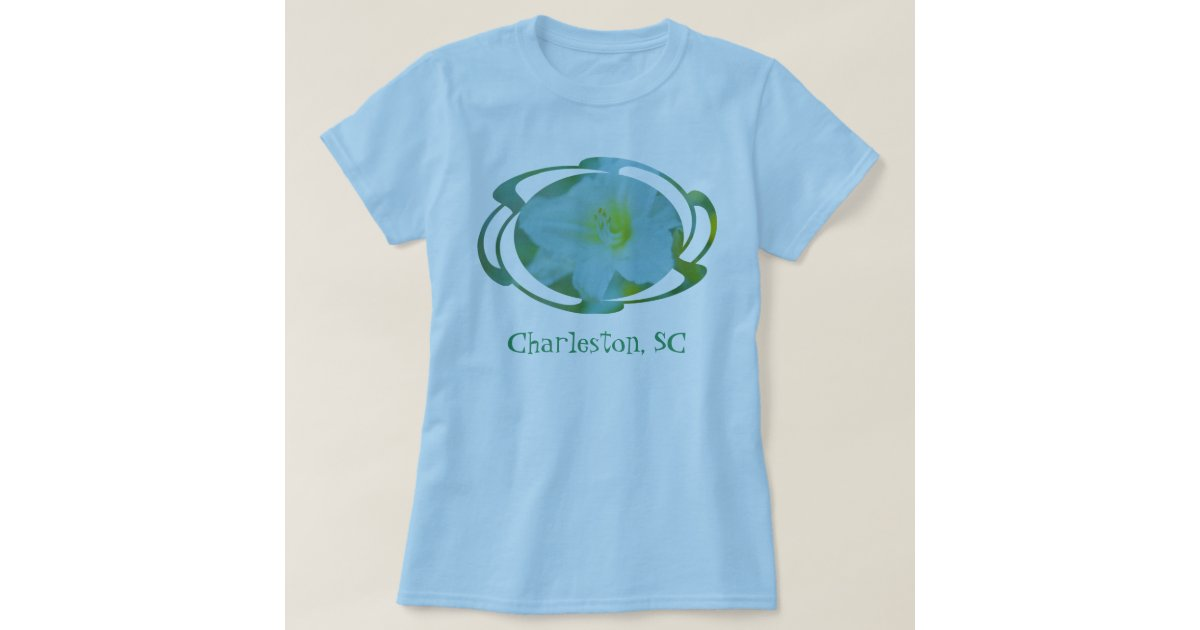 Flower design charleston sc t shirt zazzle for T shirt printing charleston sc