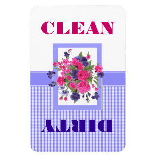 Flower Design Clean or Dirty Dishwasher Magnet