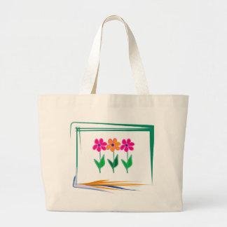 Flower Design Large Tote Bag