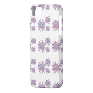 Flower design light blue and pinks pattern phone c iPhone SE/5/5s case