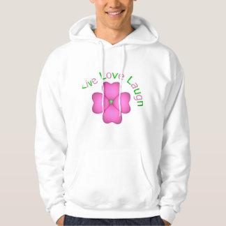 Flower Design - Live Love Laugh Hoodie