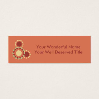 Flower Design Mini Business Card