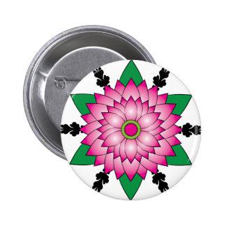 Flower Design Pinback Button