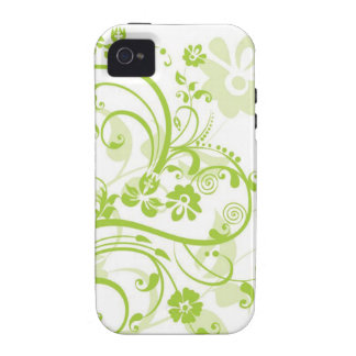 Flower design png vibe iPhone 4 case