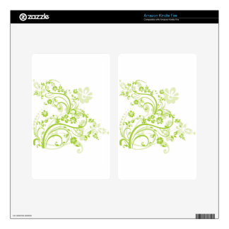 Flower design png decals for kindle fire