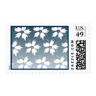 Flower Design Postage (Navy)