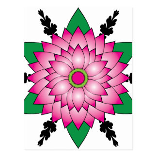 Flower Design Postcard