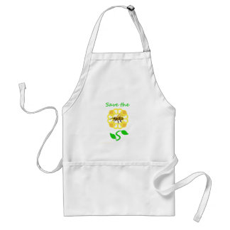 Flower Design Save The Bees Apron
