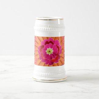 flower design stein 18 oz beer stein