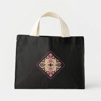 Flower Design : Textile Print Mini Tote Bag