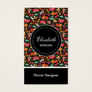 Flower Designer Colorful Floral Pattern Business Card